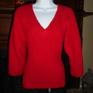 Victoria's Secret boucle red sweater, XS